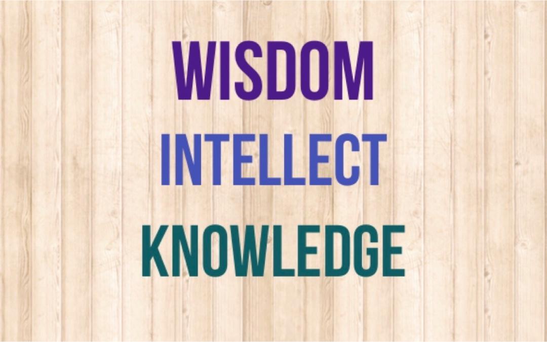 Wisdom vs. Intellect