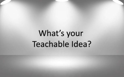 What's your Teachable Idea?