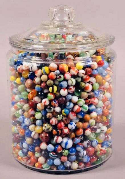 A Jar of Marbles.