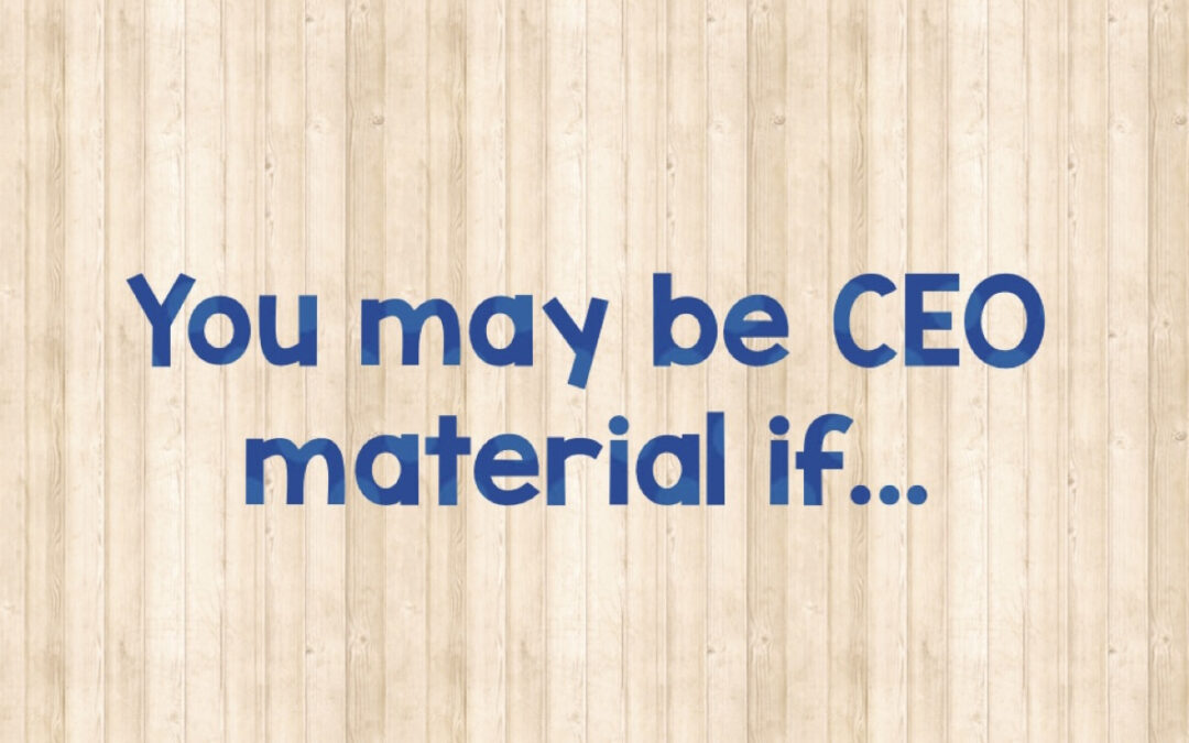 Are you ready to be a CEO?